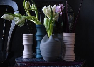 WantedDesign Holiday Market 2016 - Photo 4 of 6 - Collection of porcelain vases from Wrenlab Ceramics.