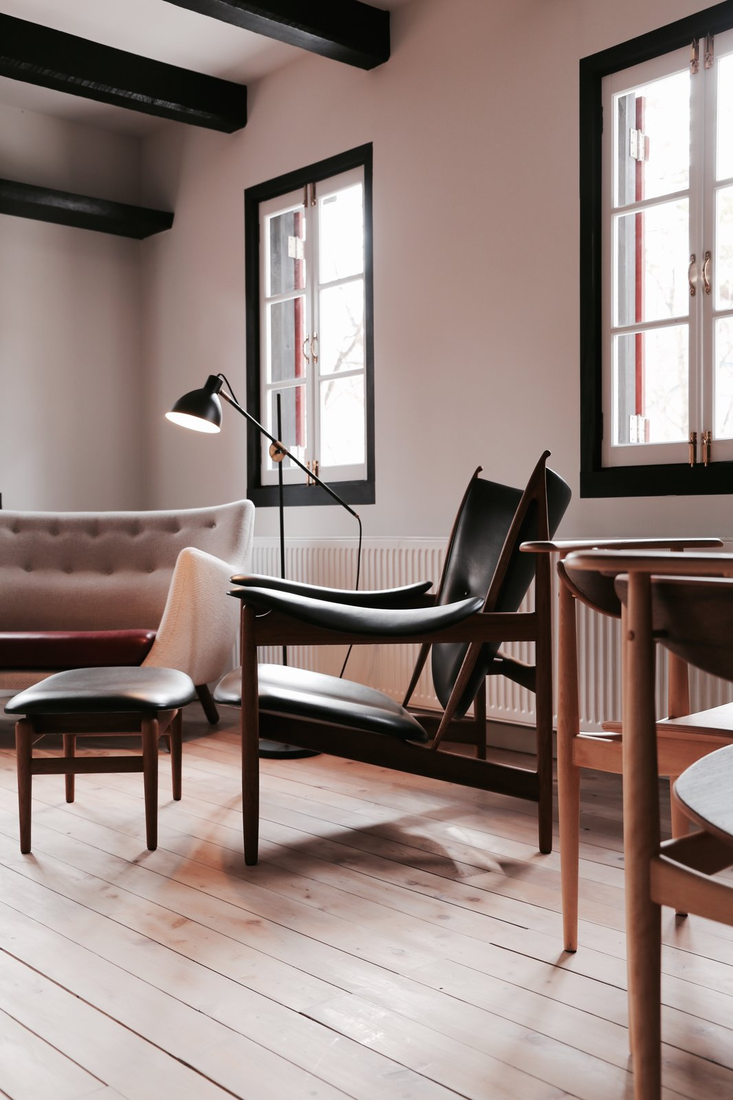 Tagged: Living Room and Chair.  Photo 3 of 5 in Finn Juhl Design Hotel Opens in Nagano, Japan