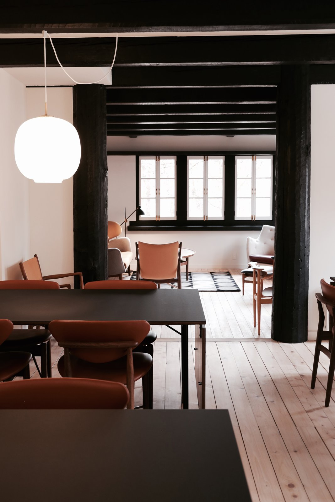 Tagged: Dining Room, Table, Chair, and Pendant Lighting.  Photo 2 of 5 in Finn Juhl Design Hotel Opens in Nagano, Japan
