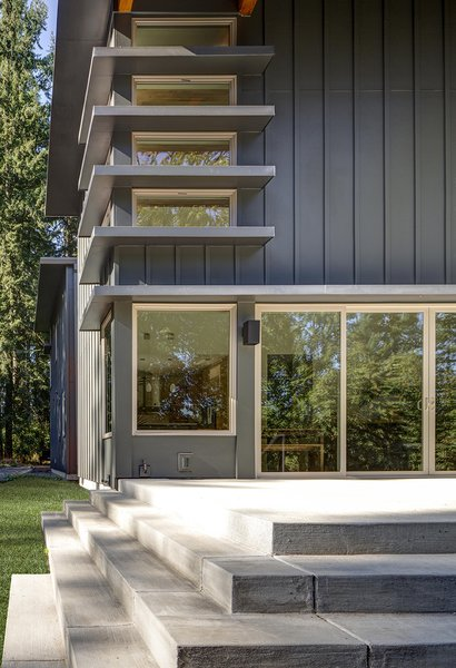 "Daunted by the challenge of building a new home in Oregon from their existing residence in Minnesota, Rebecca and Peter Gadd chose a prefab design by Stillwater Dwellings. ""The packages and set design options kept us from feeling overwhelmed,"" Rebecca says."