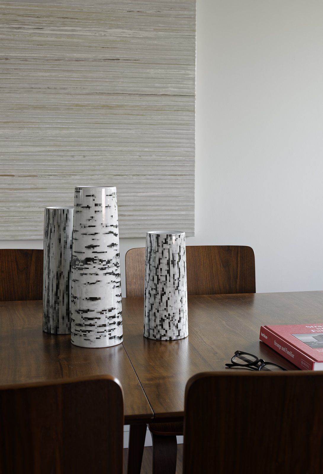The three stoneware vases featuring an abstracted wood-bark pattern are from the Modern by Dwell Magazine collection. Tagged: Dining Room and Table Lighting. Moving Mountains - Photo 6 of 15