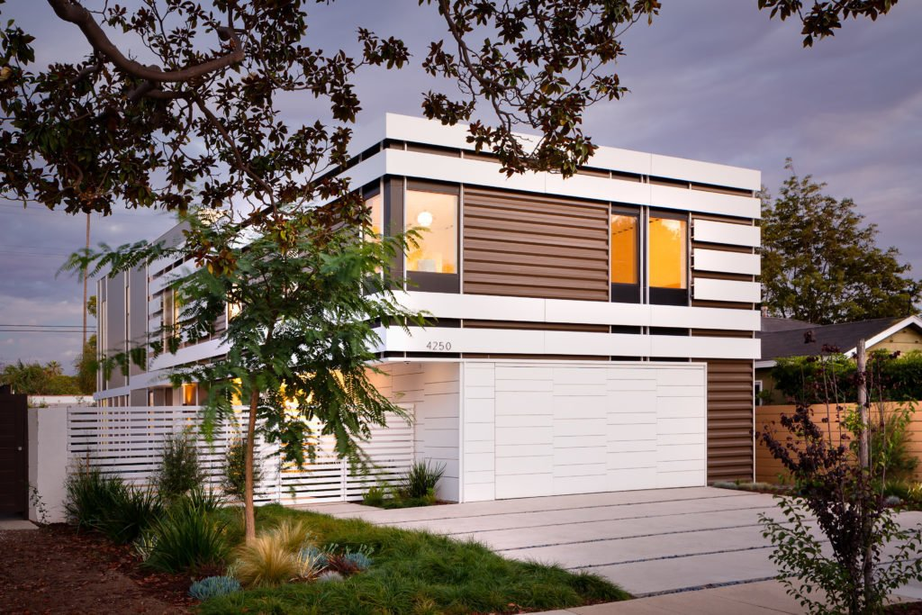 Project Name: Kenyon Residence  Website: http://www.protohomes.com/ Tagged: Exterior, Prefab Building Type, Flat RoofLine, House, and Wood Siding Material.  Photo 8 of 23 in 22 Modern Prefab Companies That Every Homebuyer Can Rely On