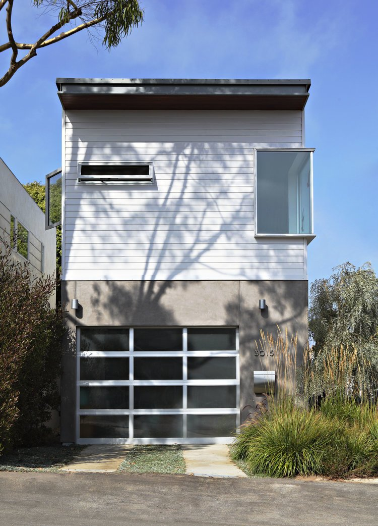 Project Name: Santa Monica Prefab Tagged: Exterior, Wood Siding Material, Concrete Siding Material, Prefab Building Type, and Flat RoofLine.  Photo 23 of 23 in 22 Modern Prefab Companies That Every Homebuyer Can Rely On