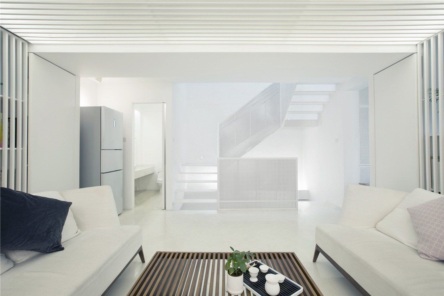 White House by Arch Studio  Photo 2 of 10 in How to Bring Light Into Dark Spaces