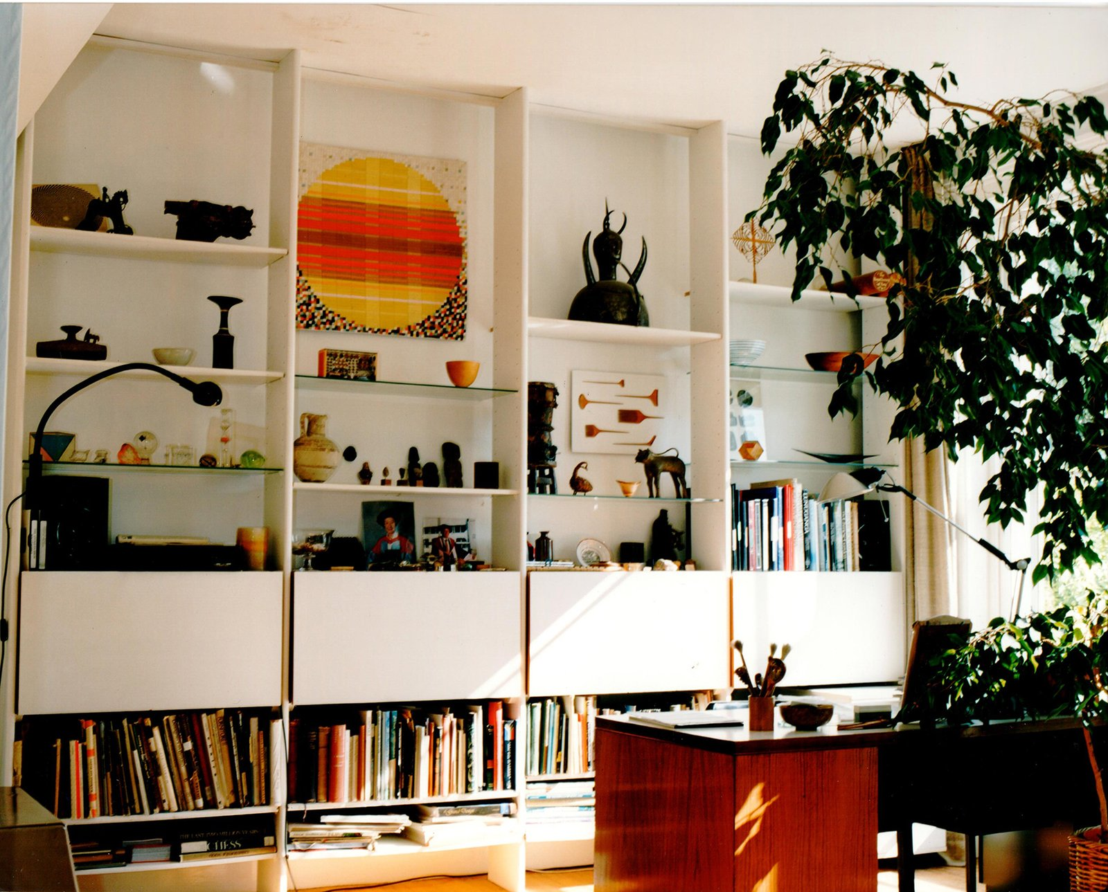 the open-plan living room in Robin and Lucienne Day's home on Cheyne Walk in London's Chelsea, furnished with their designs. The couple, who met at the Royal College of Art in 1940 and were married in 1942, lived there for nearly 50 years. Image courtesy The Robin & Lucienne Day Foundation.  Photo 2 of 5 in All in a Day's Work