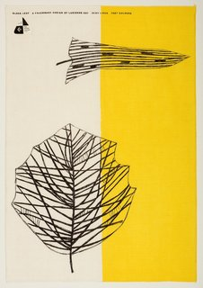 All in a Day's Work - Photo 4 of 4 - Lucienne Day's Black Leaf tea towel for Thomas Somerset (1959) exemplifies her fascination with modern art and plant life. Image courtesy of The Robin & Lucienne Day Foundation. Collection of Jill A. Wiltse and H. Kirk Brown III, Denver.