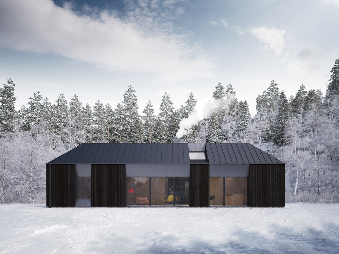 Project Name: Tind House Tagged: Exterior, Prefab Building Type, Wood Siding Material, and Metal Roof Material.  Photo 3 of 21 in 20 Modern Prefab Companies Perfect for Mountain Living