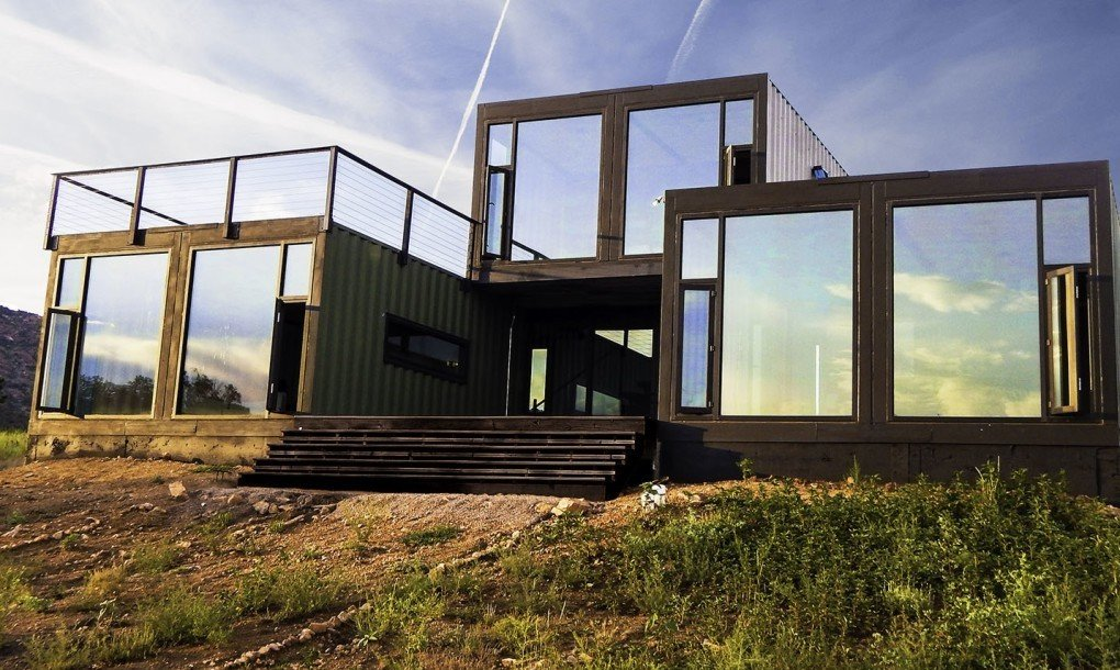Project Name: Cañon City Tagged: Exterior, Shipping Container Building Type, Prefab Building Type, Metal Roof Material, and Metal Siding Material.  Photo 12 of 17 in 16 Prefab Shipping Container Home Companies in the United States