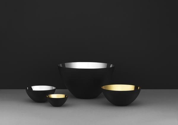 "Krenit bowls with a glistening inside in gold and silver.  Photo 7 of 11 in 10 Ways to Bring a Little ""Hygge"" Into Your Home"