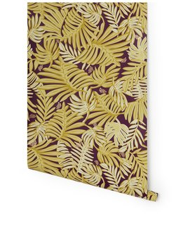 """10 Ways to Bring a Little """"Hygge"""" Into Your home - Photo 7 of 10 - Aja (Aubergine) wallpaper, designed by Justina Blakeney for Hygge & West"""
