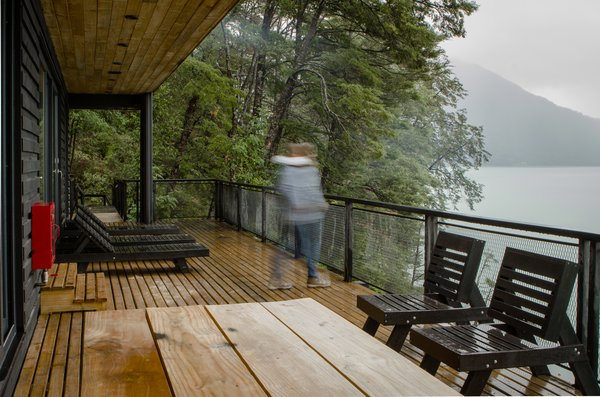 """""""The weather is really good in summer with really hot days, but almost the entire rest of the year is rainy, with wind and clouds,"""" says Chadwick of the national park. """"It's one of those places where you can live through all four seasons in a day."""" Photo  of Casa Lago Todos los Santos modern home"""