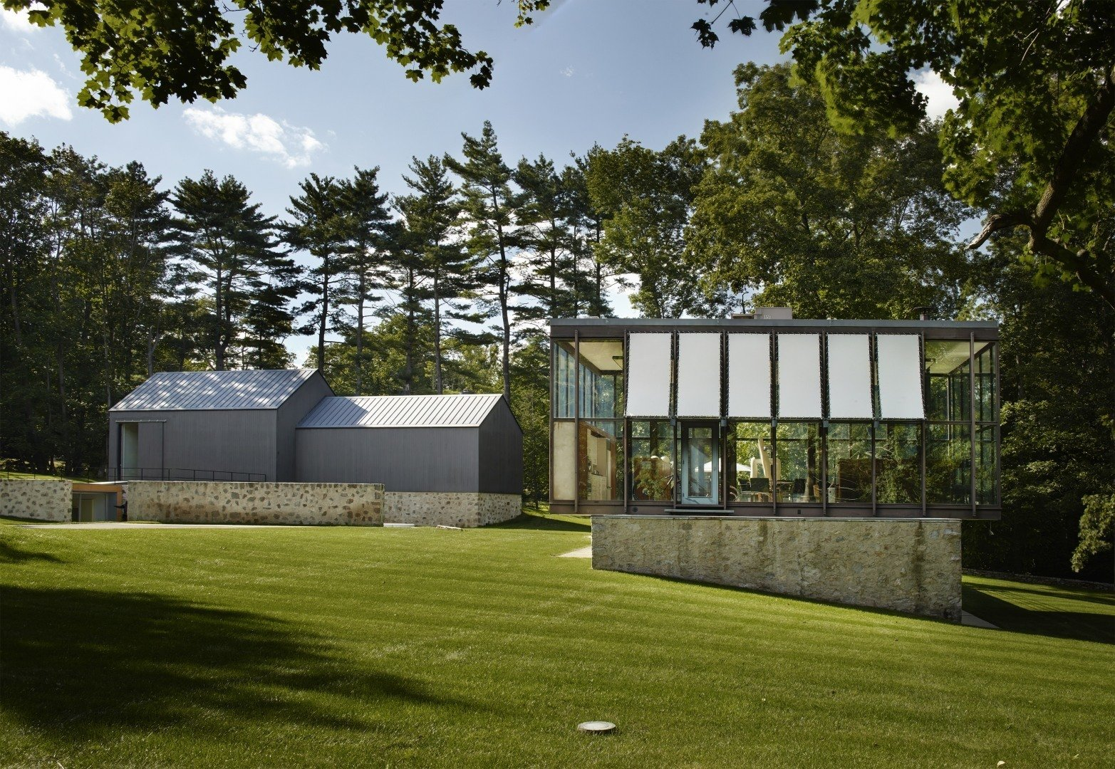 Ferris respected the original stone-and-concrete foundations while making some modern additions.   Wiley House by Dwell