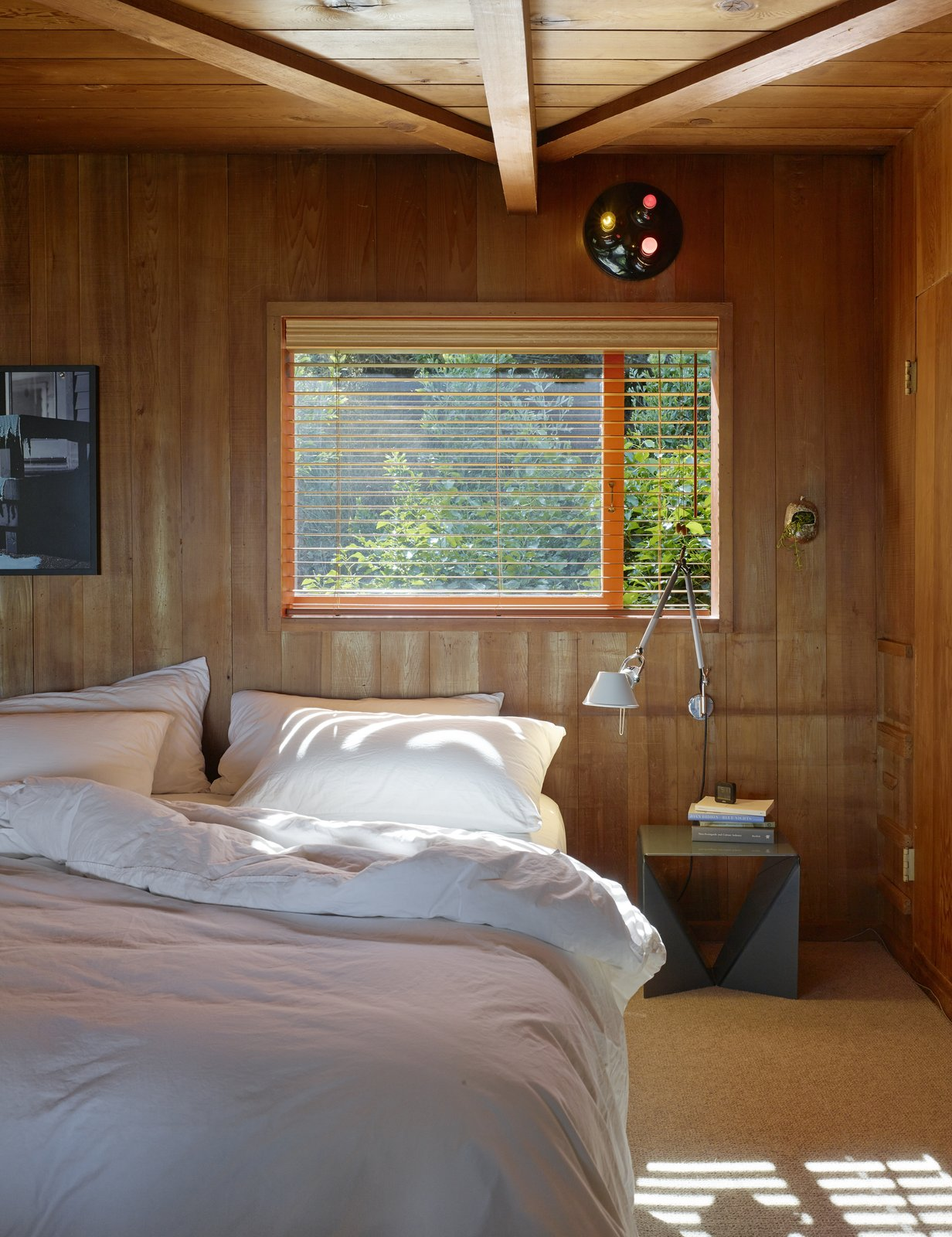 Another bedroom is left simple to let the wood do the talking.  Photo 10 of 12 in Creatives of the Bay Area Series: Charles de Lisle