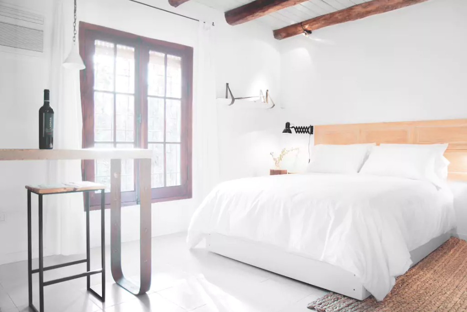 This bright, rustic and clean room with well laid Southeast orientation is situated in a quiet street. It has a bedroom, bathroom and living room to enjoy a good glass of wine.  Photo 10 of 11 in 10 Rentable Homes in the World's Best Wine Regions