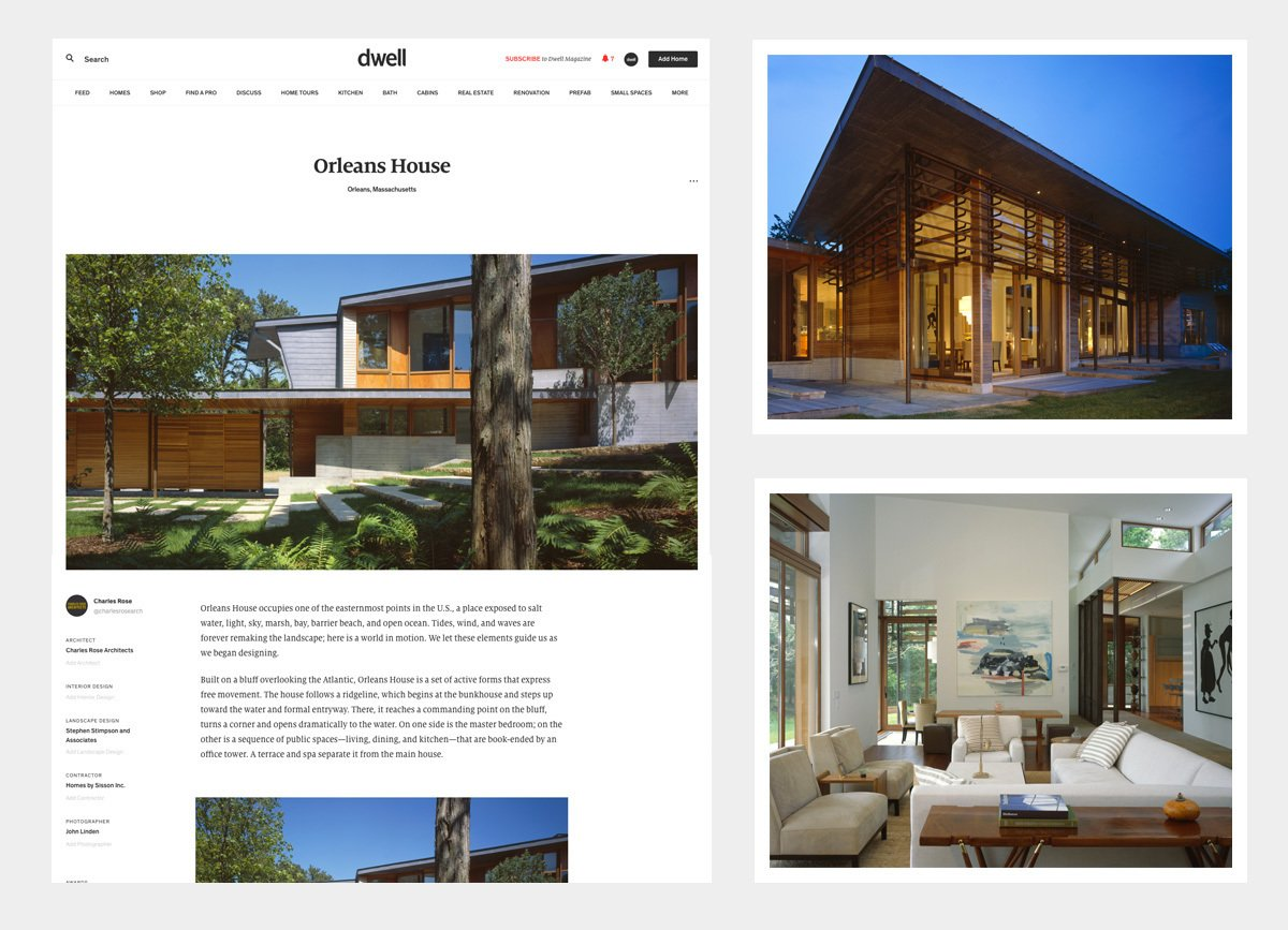 The award winning Orleans House submitted and designed by Charles Rose Architects. Add a Home to Dwell - Photo 2 of 3
