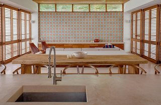 Find Yourself in Paradise at These 10 Modern Rentals in the Caribbean - Photo 6 of 10 - This bold, colorful tile is installed in large sections throughout the entire casa.
