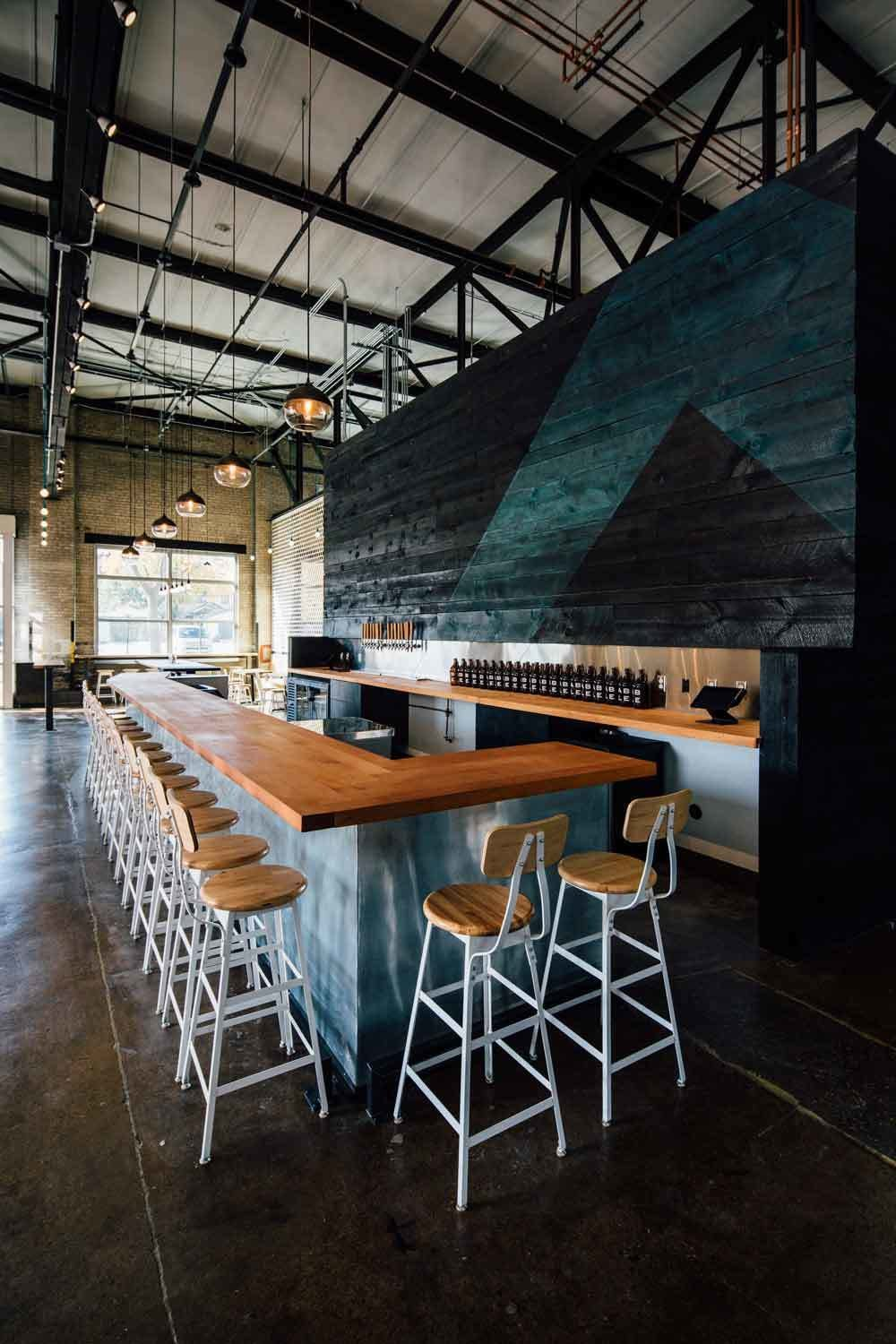An indoor biergarten with an industrial edge, this is the perfect combination of the traditional beer hall and the modern meeting place.