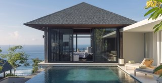 10 Cliffside Destinations That Will Make You Feel on Top of the World - Photo 7 of 10 - Perched atop a cliff, Villa Hamsa is a four-bedroom, fully staffed villa in the southernmost section of Bali's Bukit Peninsula. It has generous dining spaces, a large infinity pool, and its own gym and massage room.