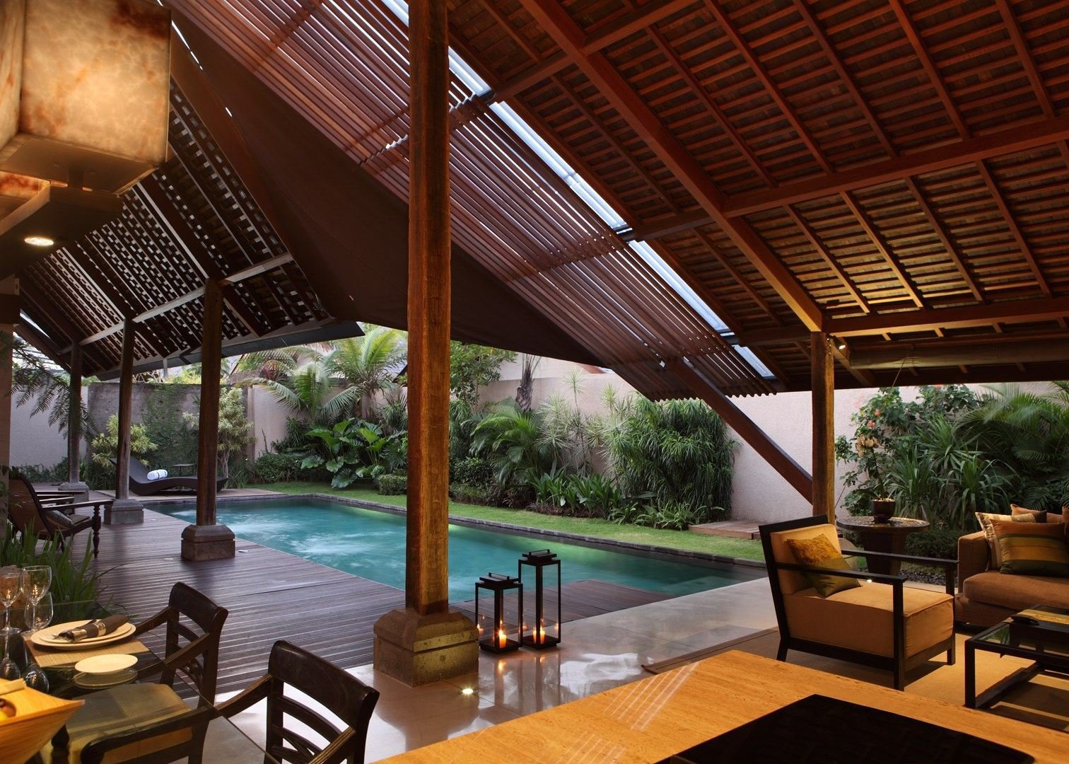 Tucked away in the coastal village of Canggu, Ametis Villa offers three different styles of villas that all come with their own kitchens, private pools and lush tropical gardens.