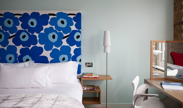 Boundary Hotel in London's Shoreditch neighborhood pays homage to midcentury masters such as Charles and Ray Eames, Josef Hoffmann, Le Corbusier, and Mies Van Der Rohe—with rooms decorated to reflect the styles of each of these iconic designers.