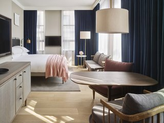 Follow Us to 10 Midcentury Modern-Inspired Hotels Around the Globe - Photo 11 of 11 - Designed by Anda Andrei and Danish interior design firm Space Copenhagen, 11 Howard in New York City bears the Bauhaus DNA of warm Scandinavian minimalism and New York industrial sleekness.