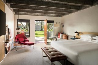 Follow Us to 10 Midcentury Modern-Inspired Hotels Around the Globe - Photo 1 of 11 - The casita-inspired bungalows at Andaz Scottsdale Resort & Spa are inspired by the aesthetics of American midcentury designer, Alexander Girard.