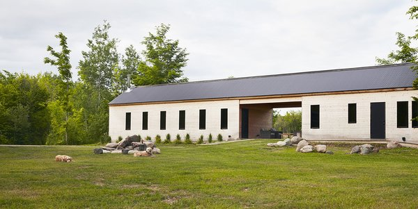 In rural Canada, an architect imports an American typology to create a year-round refuge rooted in the landscape.  Photo  of The Land House modern home