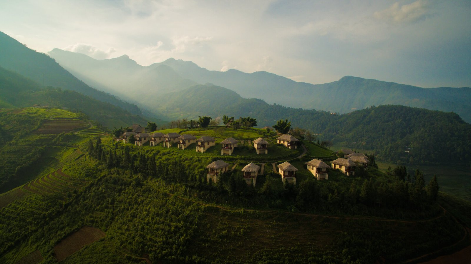 A sustainable lodge in Sapa, north Vietnam, Topas Ecolodge is an ideal base for exploring the Hoang Lien Son mountain range and meeting the people of the illusive hill tribes who live in the villages in the region. The simple but pretty rooms all come with balconies that offer stunning views of the mountainous landscape.