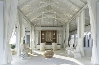 Hide Out in One of These Asian Retreats That Are Immersed in Nature - Photo 11 of 12 - A palette of white, blue, and gray bring a breezy, tropical, nautical look to Cape Kudu Hotel on the peaceful island paradise of Koh Yao Noi in Thailand.