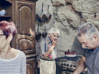 Mine Dining - Photo 1 of 18 - Marrying home cooking and an archaeological field trip, Mas de la Pyramide in Bouches-du-Rhône is probably the world's only restaurant found in an ancient Roman quarry. For proprietor and chef Lolo Mauron, the caves are both his business and his birthright. Lolo, 92, has spent his entire life here, surrounded by an incredible hodgepodge of old farm tools, collectible cars, and other bric-à-brac from the caverns' history.