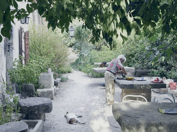 He is fond of telling the story of a large stone table he bought from an antique dealer. When the deliveryman arrived, his truck couldn't fit through the gate, so Lolo hauled the table into the courtyard himself, inching it into place over several days. Photo 7 of Mas de la Pyramide modern home