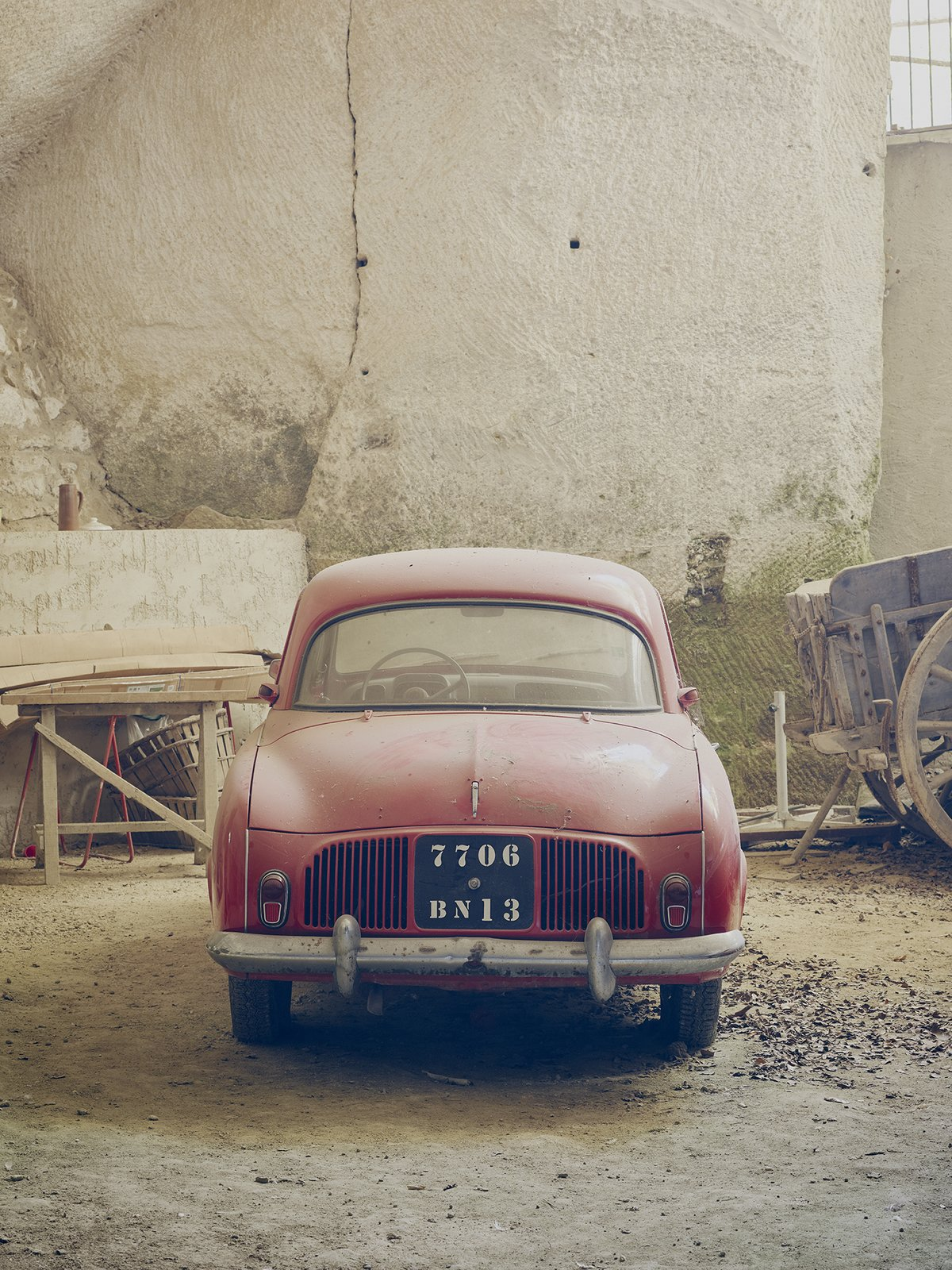 The crown jewel is Lolo's collection of more than half a dozen classic cars, not related to farming.