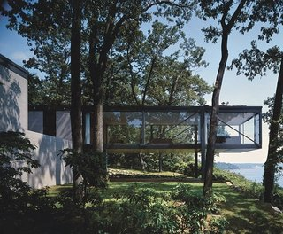 This modernist home in Lloyd Harbor, Long Island, was built in 1956.