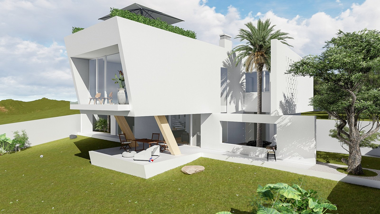 Photo 10 of 11 in 10 Bright White Cubist Homes Across the Globe