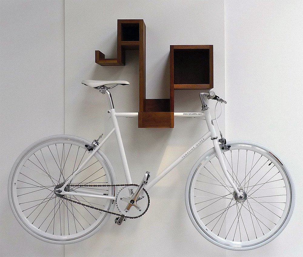 A bicycle rack for the design-conscious cyclist—the Pedal Pod looks good with or without your bicycle. The multifunctional piece offers ample cubby space to stash odds and ends, and frees up floor space by storing your bike as well. Tagged: Storage Room and Shelves Storage Type.  Photo 2 of 12 in 10 Functional Pieces For Small Space Living