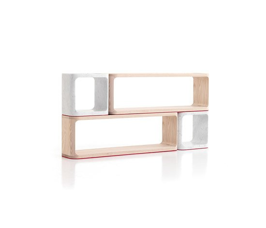 Need a place to sit, set your coffee, or house your collection of paperbacks? Jeff Miller's modular Platone Unit for Cerruti Baleri is a bench, bookcase, and coffee table all in one.