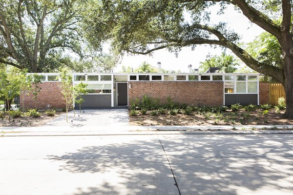 """Of the facade, Maury says, """"It doesn't stick out like a sore thumb, but it's definitely one of the cooler houses in our area."""""""