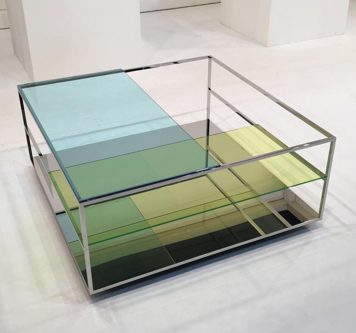 Glass may have been the most popular material this year. The multicolored Floe coffee table by Diasuke Kitagawa of Design for Industry is a good example.  Photo 8 of 11 in The Best Things We Saw at Milan Design Week 2017