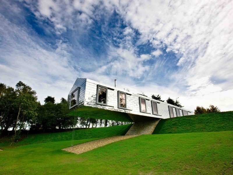 Photo 1 of 11 in Take a Modern British Holiday in a Gleaming Cantilevered Barn