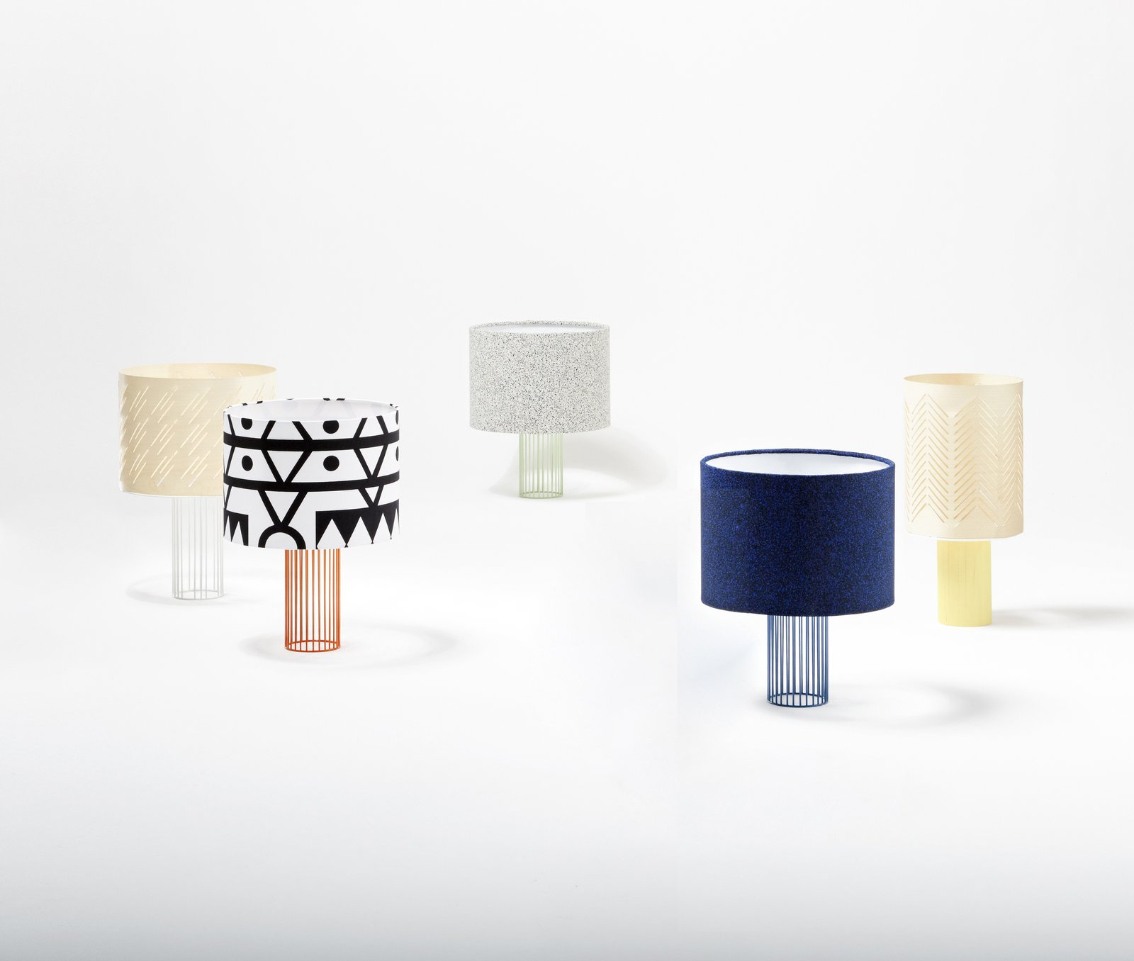 Magic Lamp   A range of graphic Kvadrat cotton fabric shades enliven the Magic lamp by Isabelle Gilles and Yann Poncelet for Colonel.   moncolonel.fr
