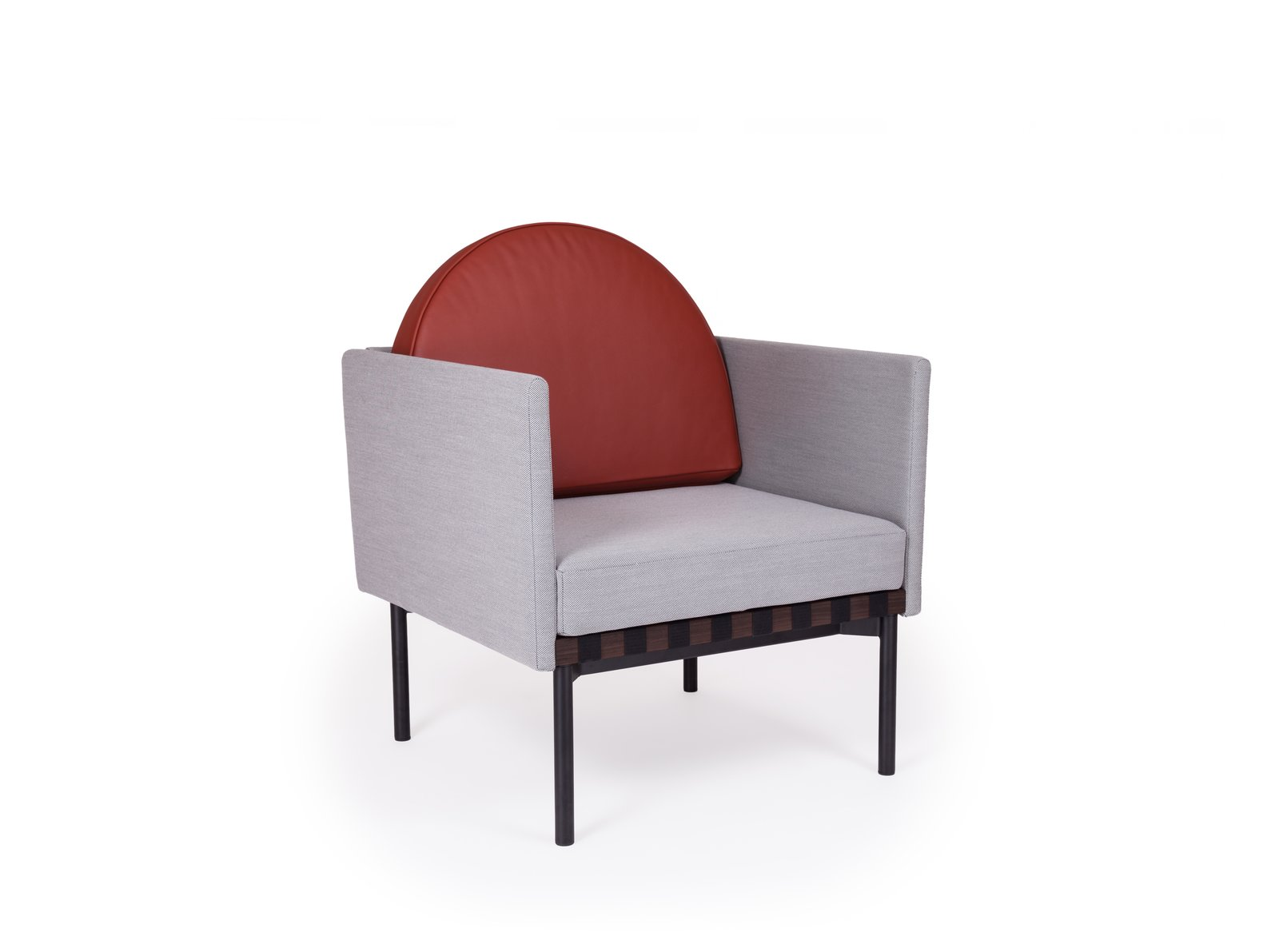 Grid Armchair   Design duo Pool's modular sofa system for Petite Friture, which includes  a graphic armchair, started as a send-up of the Bauhaus.  petitefriture.com  Photo 9 of 13 in Color Unleashed