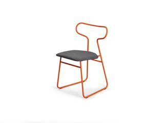 Color Unleashed - Photo 10 of 12 - Loop chair </p><p> Rodet, which has shaped tubular steel for nearly 40 years, likens the powder-coated lines of Fred Rieffel's chair to the curves of a race track.   rodet-home.net