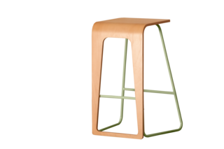 Color Unleashed - Photo 12 of 12 - Kama Stool </p><p> Le point D's Kama bar stool comes in eight metal colors and four seat finishes, and the flexible design lets you switch sides to sit or sit/stand.   lepointd.com
