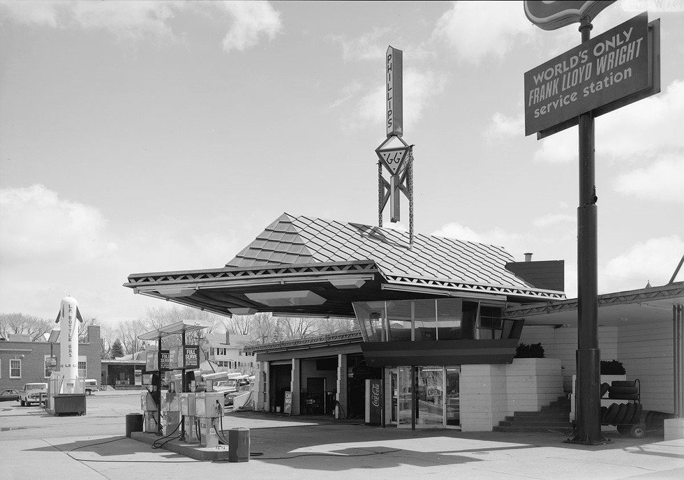 Photo 1 of 3 in Frank Lloyd Wright's Little Known Gas Station For the Future