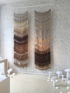 "The Best of New York Design Week 2017 - Photo 5 of 35 - High praise to Colony for their excellent exhibition entitled ""Lightness: The Full Spectrum""—shown here are wool, mohair, and linen pieces by textile designer Hiroko Takeda."