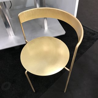 The Best of New York Design Week 2017 - Photo 6 of 35 - The Brass Avoa chair, designed by Pedro Paolo Venzon for Matter.