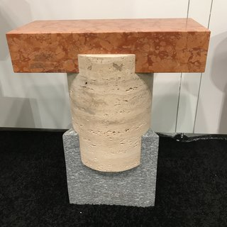 The Best of New York Design Week 2017 - Photo 7 of 35 - A Tuscan Stool made in Italy by Oevffice for Matter, handcrafted from three different stones: Rosso Verona Marble, Roman Travertine, and Luzerna stone.