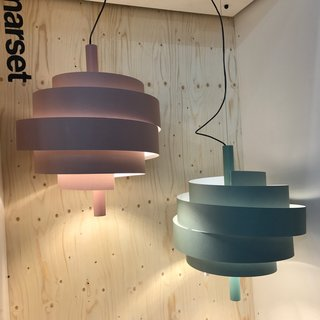 The Best of New York Design Week 2017 - Photo 8 of 35 - Piola lamps, made of PVC and designed by Christophe Mathieu for Marset.