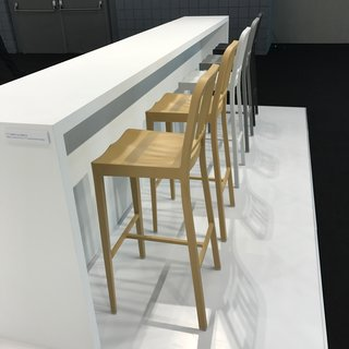 The Best of New York Design Week 2017 - Photo 20 of 35 - Emeco also introduced their soon-to-launch counter-height version of their famous Navy 111 Chair, which is made from recycled plastic bottles.