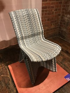 The Best of New York Design Week 2017 - Photo 24 of 35 - At Wanted, Dutch designer Dirk Van Der Kooij displayed his new 3D-printed chair made of recycled refrigerator plastic parts.